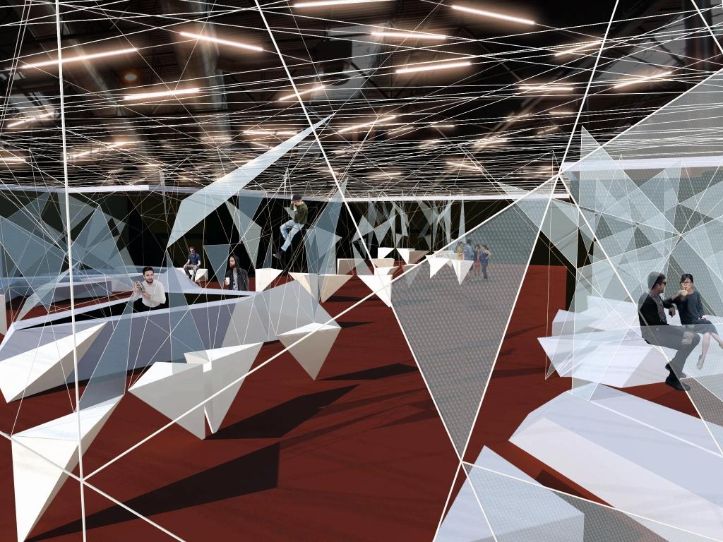 Montaje propuesta de la zona Vip de la feria de ARCO madrid para la zona VIP